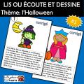 LIS OU ÉCOUTE ET DESSINE - Thème: l'Halloween