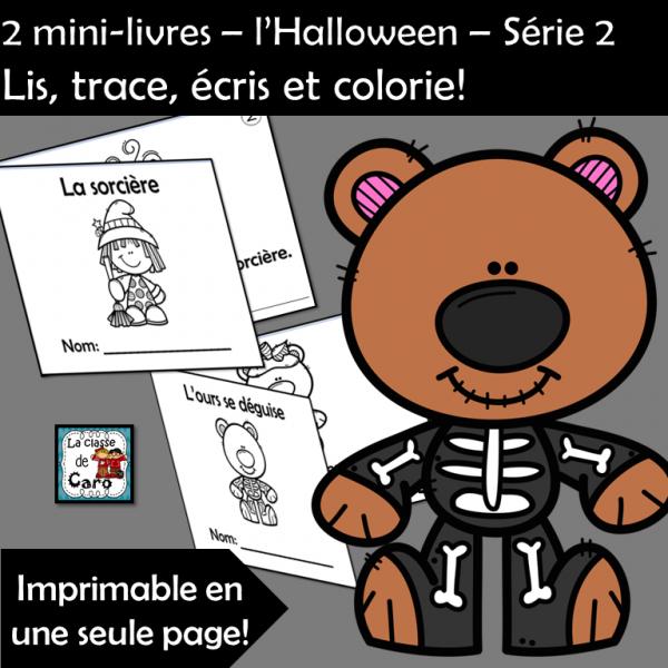 2 petits livres – l'Halloween – Série 2