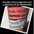 Bracelets  pour la MENTALITÉ DE CROISSANCE