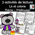 Lis et colorie Thème – l'Halloween