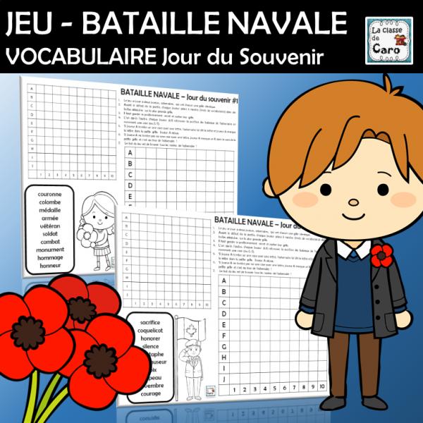 JEU - BATAILLE NAVALE Jour du Souvenir