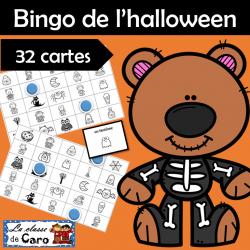 Bingo de l'halloween - 32 cartes