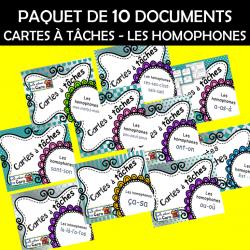 10x CARTES À TÂCHES - LES HOMOPHONES