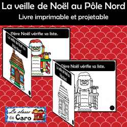 Petit livre imprimable et projetable: Noël