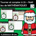 Compter à 25 – Noël - Jeu de MATHÉMATIQUES