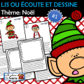 LIS OU ÉCOUTE ET DESSINE Thème: Noël
