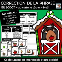 CORRECTION DE LA PHRASE JEU SCOOT – Noël