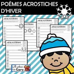 POÈMES ACROSTICHES D'HIVER