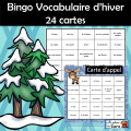 BINGO - Vocabulaire D'HIVER - Imprimable