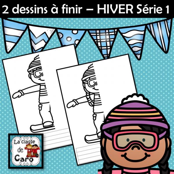 2 dessins à finir – HIVER Série 1