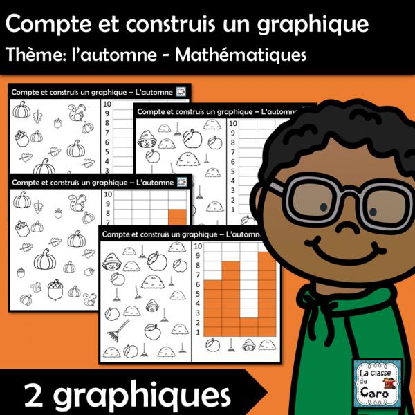 Compte et construis un graphique - Automne