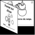 Petits livres Hiver - Lis, trace, écris, colorie