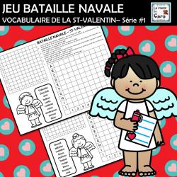 JEU BATAILLE NAVALE VOCABULAIRE ST-VALENTIN– #1