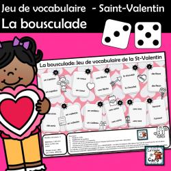 Jeu de vocabulaire  - Saint-Valentin La bousculade