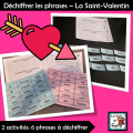 Déchiffrer les phrases – La Saint-Valentin