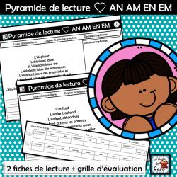 Pyramide de lecture ❤ AN AM EN EM