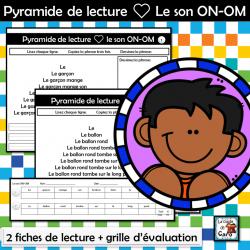 Pyramide de lecture ❤ Le son ON-OM