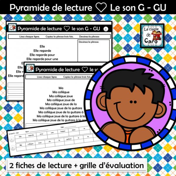 Pyramide de lecture ❤ Le son G - GU