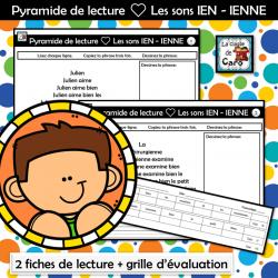 Pyramide de lecture ❤ Les sons IEN - IENNE