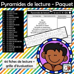 Pyramides de lecture - Paquet de 44 activités