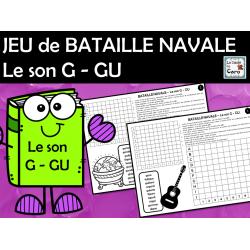 JEU de BATAILLE NAVALE Le son G - GU