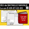JEU de BATAILLE NAVALE Le son É-ER-ET-EZ-ED