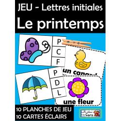 JEU - Lettres initiales Le printemps