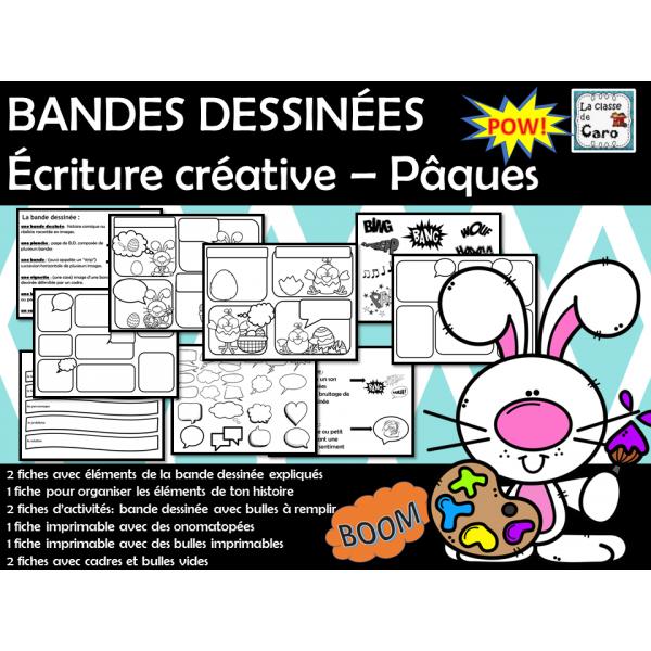 BANDES DESSINÉES Écriture créative – Pâques