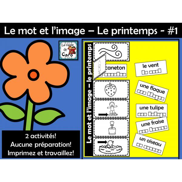 Le mot et l'image – Le printemps - #1