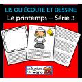 LIS OU ÉCOUTE ET DESSINE Le printemps – Série 3