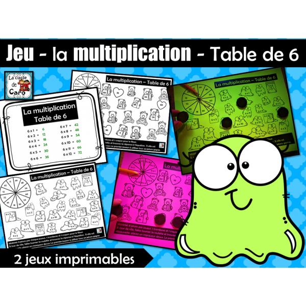 Jeu - la multiplication - Table de 6