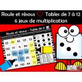 Roule et résous ❤ Tables de 7 à 12 - 6  jeux