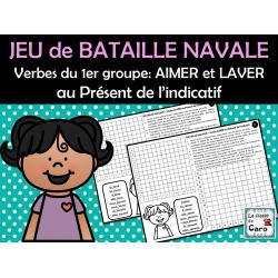 BATAILLE NAVALE - Verbe AIMER et LAVER au Présent