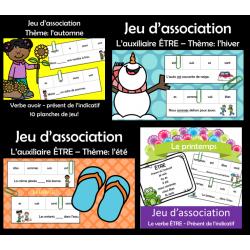 Paquet: Jeux d'association - AVOIR et ÊTRE