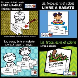 PAQUET: Lis, trace, écris et colorie - Les saisons