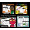 Paquet: Compte et construis un graphique Saisons