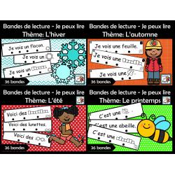 Paquet - Bandes de lecture pour les 4 saisons