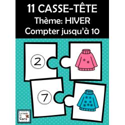 11 CASSE-TÊTE Thème: HIVER Compter jusqu'à 10