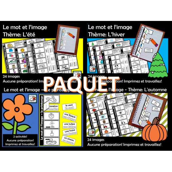 PAQUET - Le mot et l'image - Les saisons