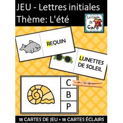 JEU – Lettres (sons) initiales Thème: L'été