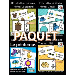 PAQUET – Jeu Lettre et son initiale - Les saisons