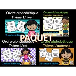 PAQUET – ordre alphabétiques -Lessaisons