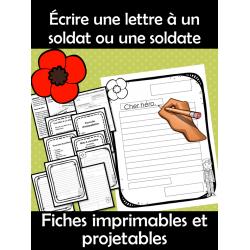 Écrire une lettre à un soldat ou une soldate