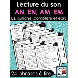 Lecture du son AN, EN, AM, EM ❤