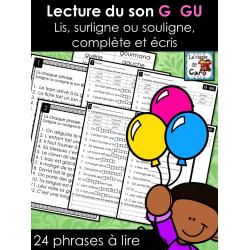 Lecture du son G  GU