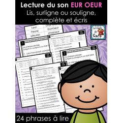 Lecture du son EUR OEUR