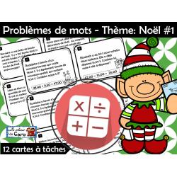 Problèmes de mots (Maths)- Thème: Noël #1