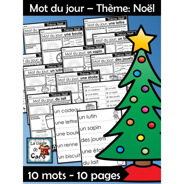 Mot du jour – Thème: Noël