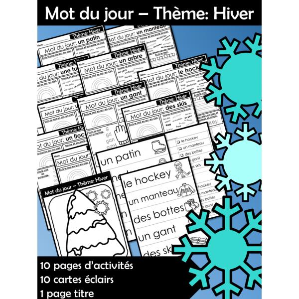 Mot du jour – Thème: Hiver