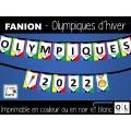FANION - OLYMPIQUES - Jeux d'hiver